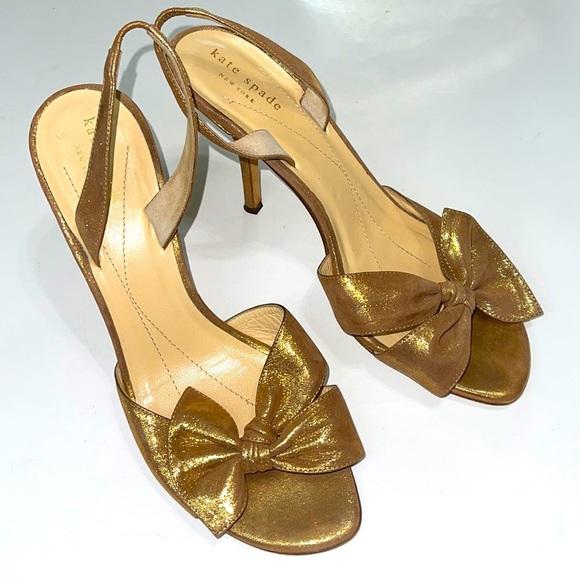 Kate Spade Sparkle Bronze Dress Heels